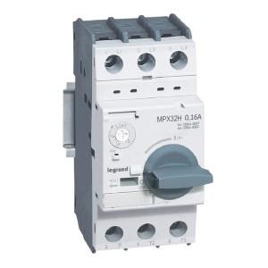 Disjoncteur moteur MPX3 32H - réglage thermique 0,1A à 0,16A - pouvoir de coupure 100kA en 415V LEGRAND