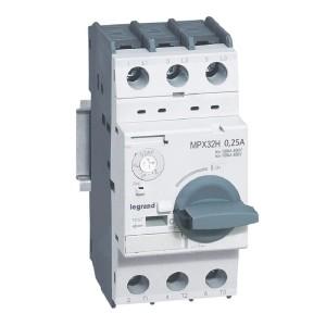 Disjoncteur moteur MPX3 32H - réglage thermique 0,16A à 0,25A - pouvoir de coupure 100kA en 415V LEGRAND