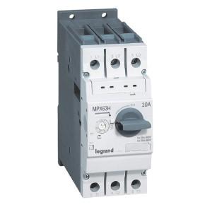 Disjoncteur moteur MPX3 63H - réglage thermique 6A à 10A - pouvoir de coupure 100kA en 415V LEGRAND