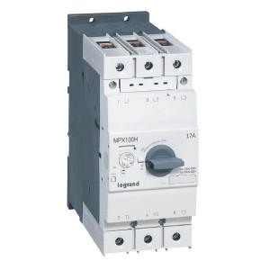Disjoncteur moteur MPX3 100H - réglage thermique 45A à 63A - pouvoir de coupure 100kA en 415V LEGRAND