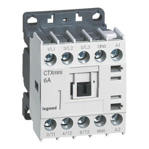 Mini-contacteur CTX³ 3 pôles 6A 1NO - tension de commande 24V LEGRAND