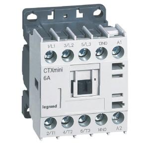 Mini-contacteur CTX³ 3 pôles 6A 1NO - tension de commande 110V~ LEGRAND