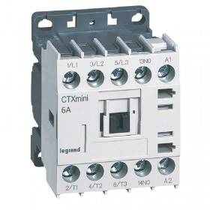 Mini-contacteur CTX³ 3 pôles 6A 1NO - tension de commande 415V~ LEGRAND