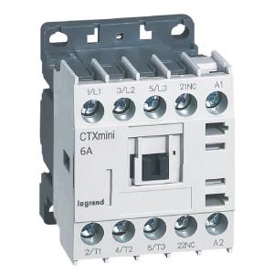 Mini-contacteur CTX³ 3 pôles 6A 1NF - tension de commande 24V~ LEGRAND