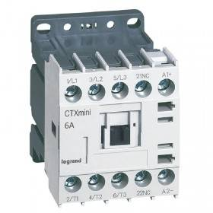 Mini-contacteur CTX³ 3 pôles 6A 1NF - tension de commande 24V LEGRAND