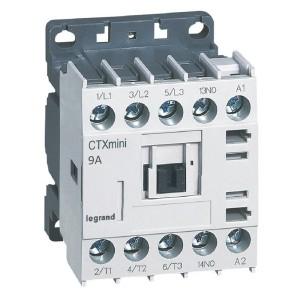 Mini-contacteur CTX³ 3 pôles 9A 1NO - tension de commande 24V~ LEGRAND
