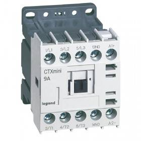 Mini-contacteur CTX³ 3 pôles 9A 1NO - tension de commande 24V LEGRAND