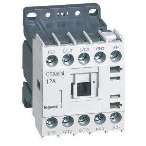 Mini-contacteur CTX³ 3 pôles 12A 1NO - tension de commande 24V LEGRAND