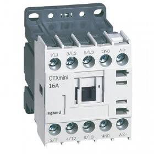 Mini-contacteur CTX³ 3 pôles 16A 1NO - tension de commande 24V LEGRAND