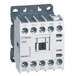Mini-contacteur CTX³ 3 pôles 16A 1NF - tension de commande 24V LEGRAND