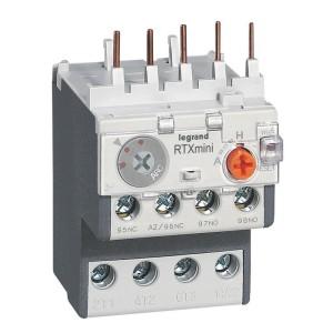 Relais thermique RTX³ - 0,63A - pour CTX³ 3 pôles - avec contact auxiliaire intégré 1NO et 1NF LEGRAND