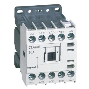 Mini-contacteur CTX³ 4 pôles 20A sans contact auxiliaire - tension de commande 24V LEGRAND