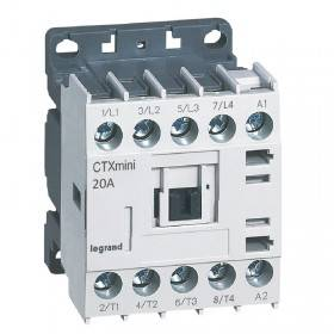 Mini-contacteur CTX³ 4 pôles 20A sans contact auxiliaire - tension de commande 230V~ LEGRAND
