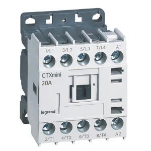 Mini-contacteur CTX³ 4 pôles 20A sans contact auxiliaire - tension de commande 415V~ LEGRAND