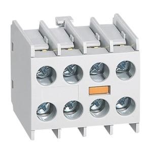 Bloc de contacts auxiliaires - montage frontal - 4NO - pour mini-contacteurs CTX³ LEGRAND