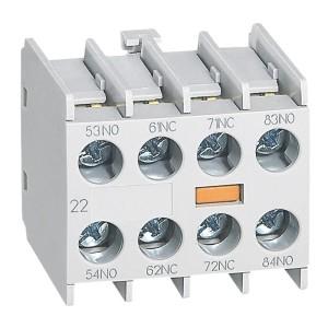 Bloc de contacts auxiliaires - montage frontal - 2NO + 2NF - pour mini-contacteurs CTX³ LEGRAND