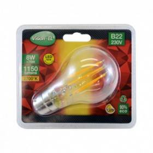 Ampoule LED B22 filament bulb 8W 2700°K VISION EL