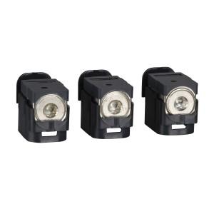 Bornes aluminium - 250A - pour câbles 25 à 95mm² - Lot de 3 SCHNEIDER