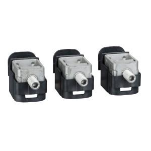 Bornes acier - pour câbles 1.5..95mm² - Lot de 3 - pour NSX100-250 INV/INS SCHNEIDER