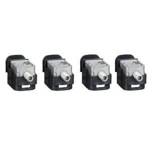 Bornes acier - pour câbles 1.5..95mm² - Lot de 4 - pour NSX100-250 INV/INS SCHNEIDER