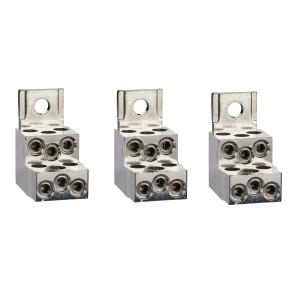 Bornes pour câbles 6x1.5..35mm² et sépar. phases - Lot de 3 - pour NSX100-250 INV/INS SCHNEIDER