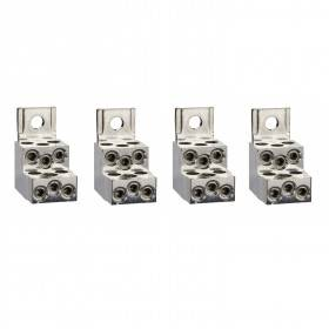 Bornes pour câbles 6x1.5..35mm² et sépar. phases - Lot de 4 - pour NSX100-250 INV/INS SCHNEIDER