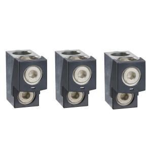 Borne pour câbles 2x35..240mm² et sépar. phases - Lot de 3 - pour NSX400-6300 INV/INS SCHNEIDER