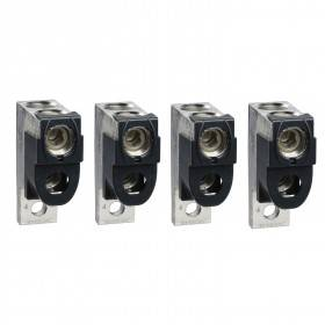 Borne pour câbles 2x35..240mm² et sépar. phases - Lot de 4 - pour NSX400-6300 INV/INS SCHNEIDER