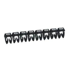 Repère CAB 3 pour filerie 4mm² à 6mm² - Chiffre 0 - Noir - Emballage : 800 LEGRAND