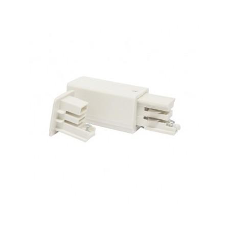 Connecteur triphasé alimentation et fin gauche blanc VISION EL