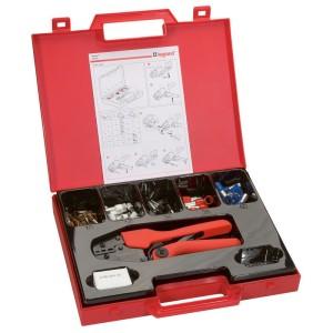 Pince à sertir 4 points Starfix pour embouts simples ou doubles unitaires sections 10mm² à 50mm² - mallette avec embouts LEGRAND