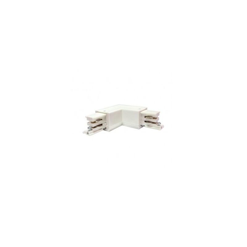 Connecteur triphasé coude L circuit intérieur droit blanc VISION EL