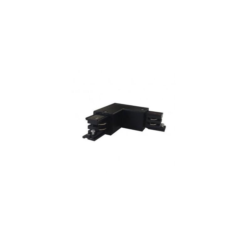 Connecteur triphasé coude L circuit intérieur droit noir VISION EL
