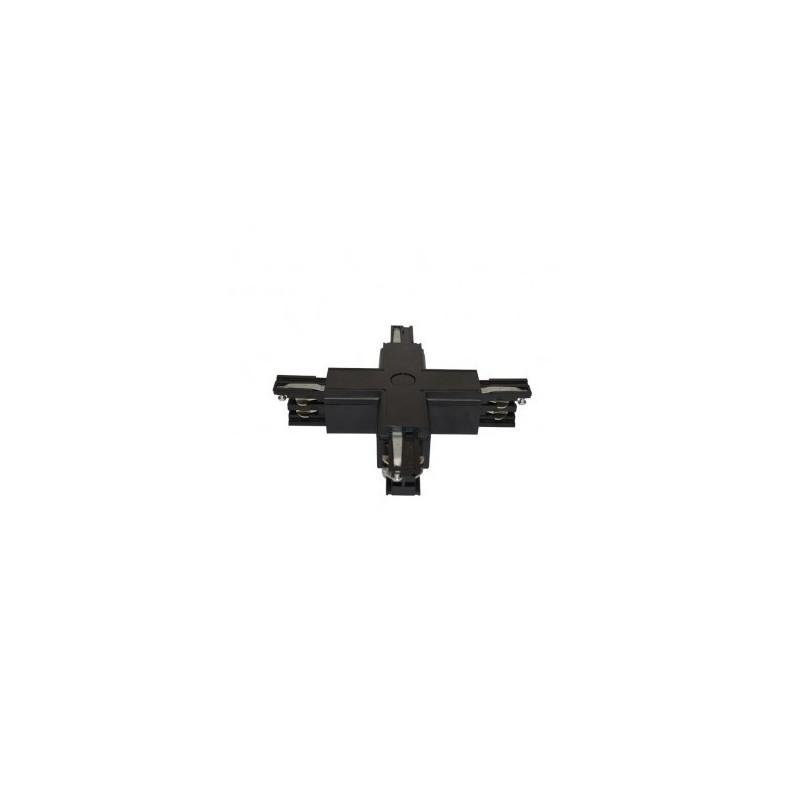 Connecteur triphasé croix X noir VISION EL