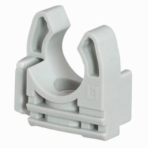 Lyre grise pour tube IRL Ø25mm - simple clipsage - Emballage 100 LEGRAND