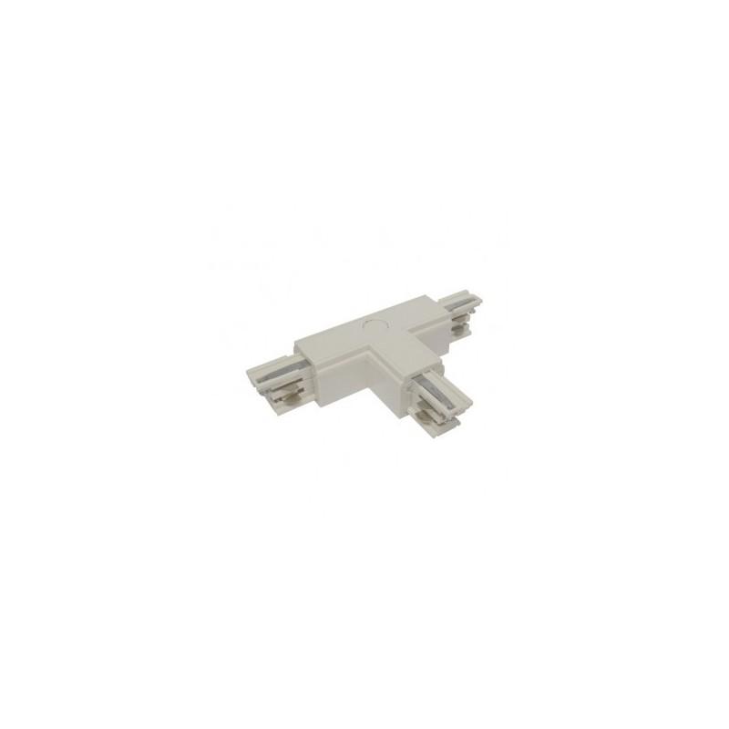 Connecteur triphasé forme T circuit extérieur droit blanc VISION EL