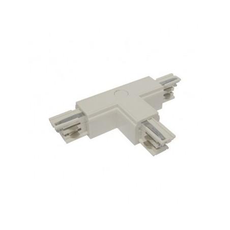 Connecteur triphasé forme T circuit intérieur gauche blanc VISION EL