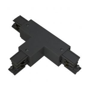 Connecteur triphasé forme T circuit extérieur droit noir VISION EL