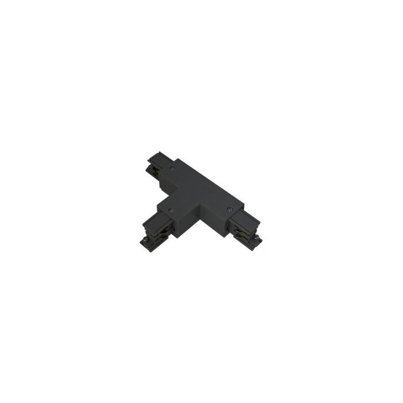 Connecteur triphasé forme T circuit intérieur gauche noir VISION EL