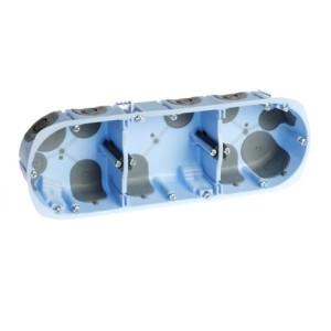 Boite d'encastrement Eur'ohm - Air'métic - 3 postes - Ø67mm - prof. 40 mm EUR'OHM
