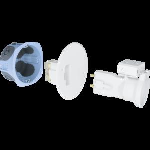 Kit d'applique DCL Air'métic + fiche/douille E27 - Ø67mm EUR'OHM