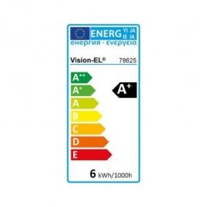 Ampoule LED GU10 COB spot 6W 6000°K VISION EL