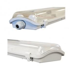 Boîtier étanche LED sans ballast - Phase/Neutre même côté - pour 2 tubes T8 de 120cm VISION EL