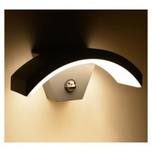 Applique murale LED 6W 3000°K curviligne + détecteur - Gris anthracite VISION EL