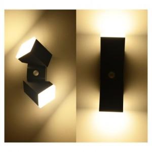 Applique murale LED gris 13W 4000°K + détecteur VISION EL
