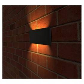 Applique murale LED 10W 3000°K rectangulaire - Gris anthracite VISION EL