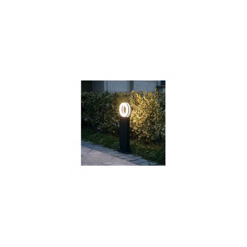 Potelet rectangulaire LED 12W 3000°K diffuseur rond - 0,5m VISION EL