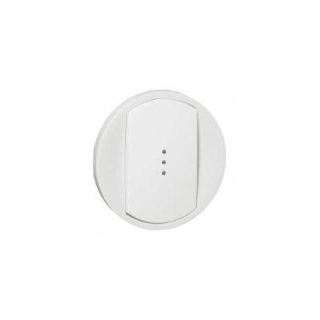 Enjoliveur large Céliane pour toutes commandes d'éclairage standard - Blanc LEGRAND