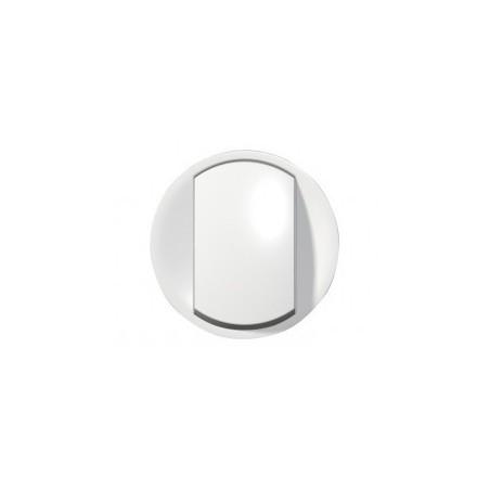 Enjoliveur large Céliane pour interrupteur, va-et-vient ou poussoir Soft - Blanc LEGRAND