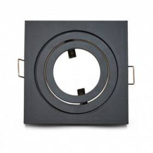 Support de spot carré aluminium noir mat orientable 88x88mm VISION EL
